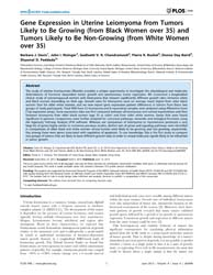 Plos One : Gene Expression in Uterine Le... by Cheung, Annie, N. Y.