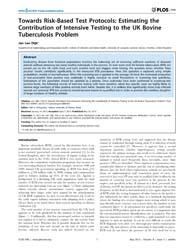 Plos One : Towards Risk-based Test Proto... by A., Odir