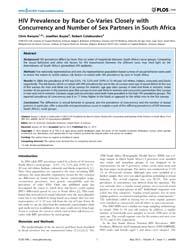 Plos One : Hiv Prevalence by Race Co-var... by Vermund, Sten, H.