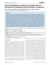 Plos One : Perinatal Bisphenol a Exposur... by Nadal, Angel