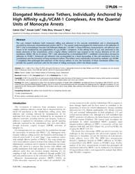 Plos One : Elongated Membrane Tethers, I... by Muller, Daniel, J.