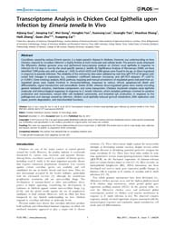 Plos One : Transcriptome Analysis in Chi... by Schönbach, Christian