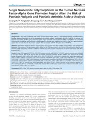 Plos One : Single Nucleotide Polymorphis... by Stover, Cordula, M.