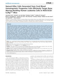 Plos One : Natural Killer Cells Generate... by Zimmer, Jacques