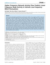 Plos One : Higher Frequency Network Acti... by Stamatakis, Emmanuel, Andreas