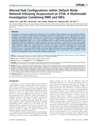 Plos One : Altered Hub Configurations Wi... by Zuo, Xi-nian