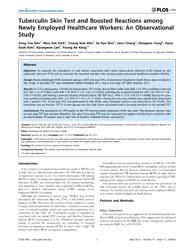 Plos One : Tuberculin Skin Test and Boos... by Pai, Madhukar