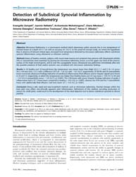 Plos One : Detection of Subclinical Syno... by Liossis, Stamatis-nick