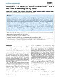 Plos One : Zoledronic Acid Sensitizes Re... by Han, Zhaozhong
