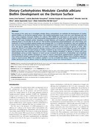 Plos One : Dietary Carbohydrates Modulat... by Zaragoza, Oscar