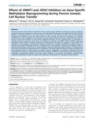 Plos One : Effects of Dnmt1and Hdacinhib... by Sun, Qing-yuan