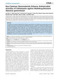 Plos One : Non-cytotoxic Nanomaterials E... by Schnur, Joel, M.