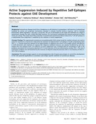 Plos One : Active Suppression Induced by... by Nataf, Serge