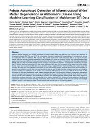 Plos One : Robust Automated Detection of... by Zhan, Wang