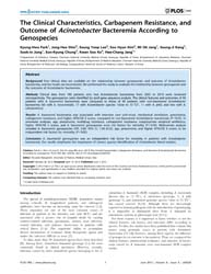 Plos One : the Clinical Characteristics,... by Manganelli, Riccardo