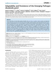 Plos One : Adaptability and Persistence ... by Coenye, Tom