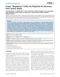 Plos One : Foxp3+ Regulatory T Cells Are... by Frey, Oliver