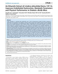 Plos One : an Ethanolic Extract of Linde... by Huang, Yu