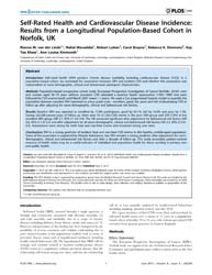 Plos One : Self-rated Health and Cardiov... by Berglund, Lars