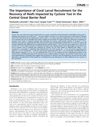 Plos One : the Importance of Coral Larva... by Fulton, Christopher