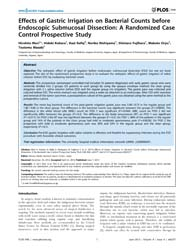 Plos One : Effects of Gastric Irrigation... by Katoh, Masaru
