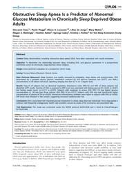 Plos One : Obstructive Sleep Apnea is a ... by Schuelke, Markus