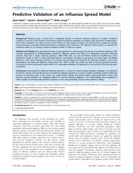 Plos One : Predictive Validation of an I... by Viboud, Cécile