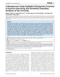 Plos One : a Metagenomic Study Highlight... by López-garcía, Purificación