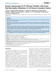 Plos One : Exome Sequencing of 47 Chines... by Janecke, Andreas, R.
