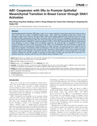 Plos One : Aib1 Cooperates with Era to P... by Müller, Rolf