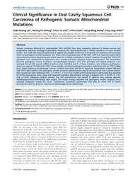 Plos One : Clinical Significance in Oral... by Mello, Ramon, Andrade De