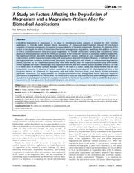 Plos One : a Study on Factors Affecting ... by Zheng, Jie