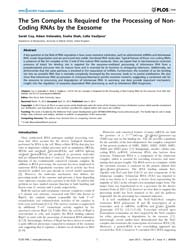 Plos One : the Sm Complex is Required fo... by Kanai, Akio