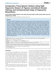 Plos One : Comparative Transcriptome Ana... by Unver, Turgay