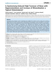 Plos One : is Gastrectomy-induced High T... by Smith, Brenda