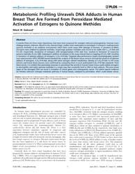 Plos One : Metabolomic Profiling Unravel... by Khan, Rizwan, H.