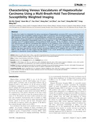 Plos One : Characterizing Venous Vascula... by Wang, Yi