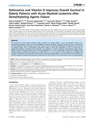 Plos One : Deferasirox and Vitamin D Imp... by Roemer, Klaus