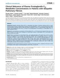 Plos One : Clinical Relevance of Plasma ... by Feghali-bostwick, Carol