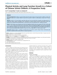 Plos One : Physical Activity and Lung Fu... by Torrens, Christopher