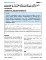 Plos One : Advantage of the Highly Restr... by Louis, Matthieu