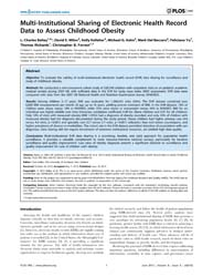Plos One : Multi-institutional Sharing o... by Bullen, Chris