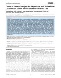 Plos One : Osmotic Stress Changes the Ex... by Rotter, Varda