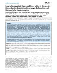 Plos One : Serum Fucosylated Haptoglobin... by Sookoian, Silvia, C.