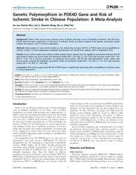 Plos One : Genetic Polymorphism in Pde4D... by Valdes-sosa, Pedro, Antonio