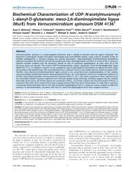 Plos One : Biochemical Characterization ... by Boneca, Ivo, G.
