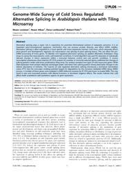 Plos One : Genome-wide Survey of Cold St... by Shiu, Shin-han