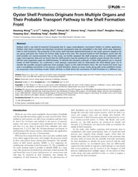 Plos One : Oyster Shell Proteins Origina... by Jackson, Daniel, John