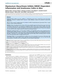 Plos One : Dipotassium Glycyrrhizate Inh... by Fuss, Ivan, J.