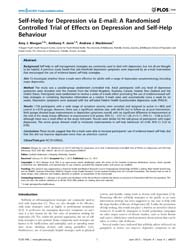 Plos One : Self-help for Depression Via ... by Andersson, Gerhard